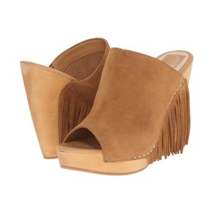 NeW Dolce Vita Cai Camel Suede Wedge